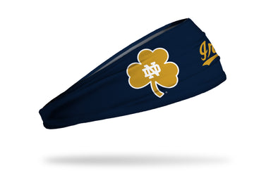 University of Notre Dame: Oversized Clover Navy Headband