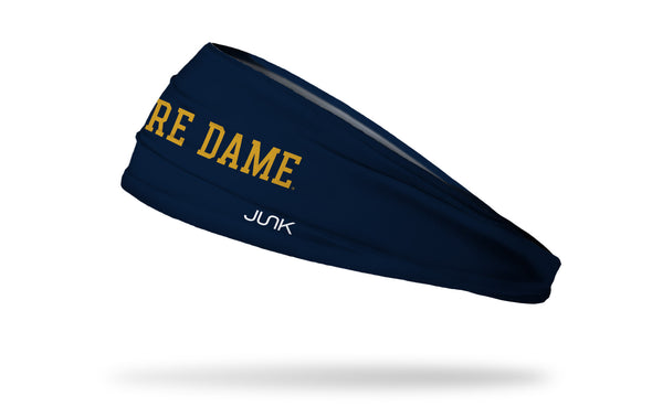 University of Notre Dame: Wordmark Navy Headband
