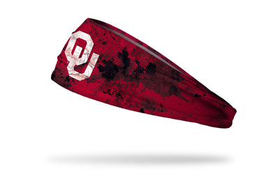 University of Oklahoma: Grunge Crimson Headband