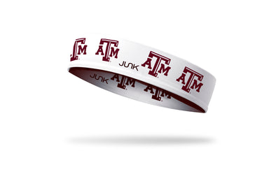 Texas A&M University: Logo White Headband