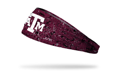 Texas A&M University headband with splatter overlay