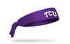 TCU: Logo Purple Tie Headband