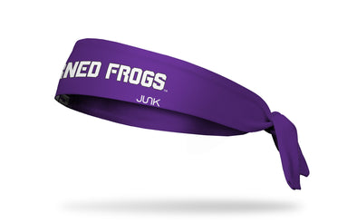 TCU: Horned Frogs Purple Tie Headband