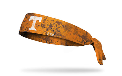 University of Tennessee orange headband with grunge overlay