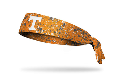 University of Tennessee orange headband with splatter overlay
