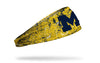 University of Michigan: Splatter Maize Headband