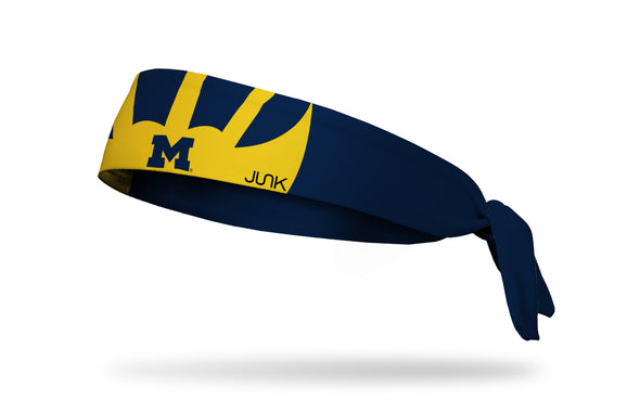 University of Michigan: Winged Helmet Tie Headband