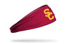 cardinal headband with University of Southern California logo