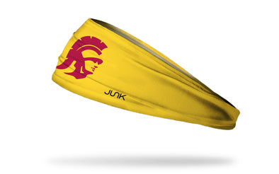 gold headband with University of Southern California trojan mascot logo