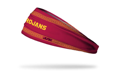 cardinal headband with University of Southern California wordmark
