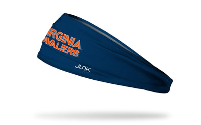 navy headband with University of Virginia Cavaliers wordmark