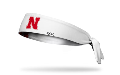 University of Nebraska: Logo White Tie Headband
