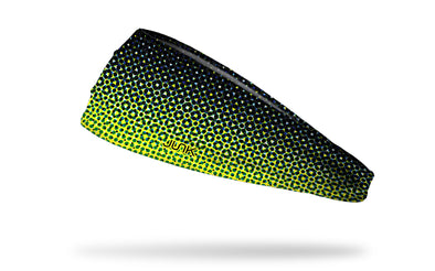 black to yellow gradient fade headband made to look like dots fading