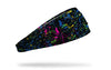 colorful black and multicolored paint splattered heaband