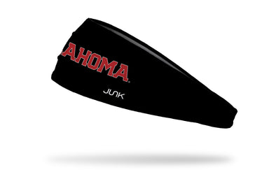 University of Oklahoma: Oklahoma Black Headband