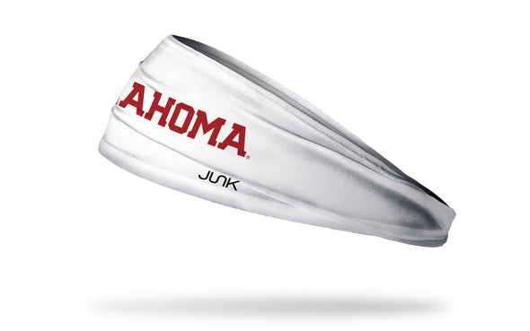 University of Oklahoma: Oklahoma White Headband