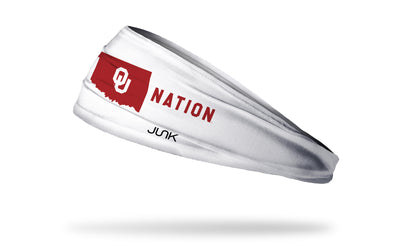 University of Oklahoma: Sooner Nation White Headband