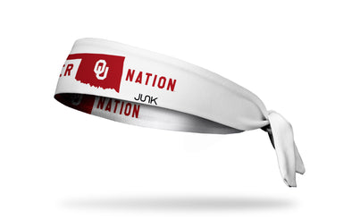 University of Oklahoma: Sooner Nation White Tie Headband
