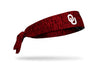 University of Oklahoma: OU Heathered Tie Headband