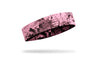 powder pink headband with grunge overlay design