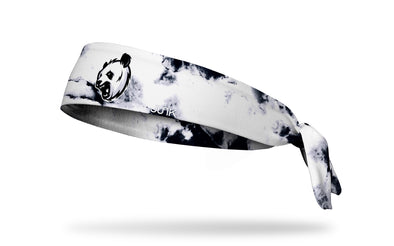 black and white headband with generic panda mascot in full color