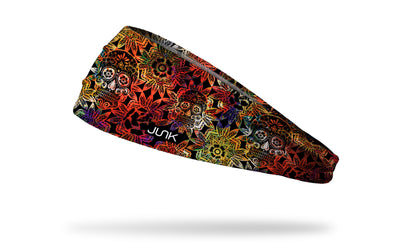 cinco de mayo themed headband crazy floral skull pattern
