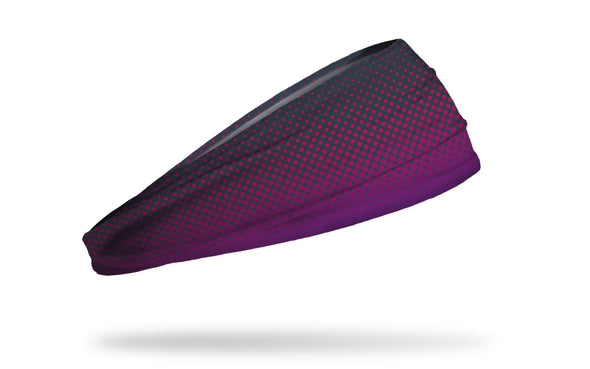 black to purple to dark purple fade gradient headband with repeating dot pattern