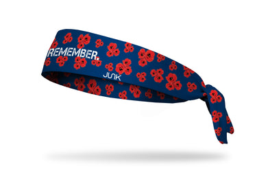 Memorial Day headband with Remember wordmark and posies