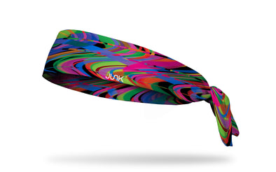 bright multicolored wavy lines like reverberation headband