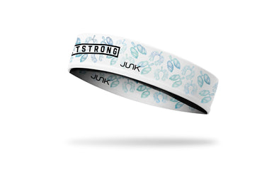 white medical themed headband with hashtag RT strong wordmark