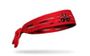 red headband with samurai helmet face oversized