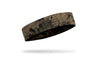khaki sand headband with grunge overlay design