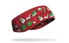 christmas decor on red ear warmer right side