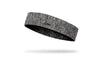 left side view of black and grey heathered JUNK baller headband