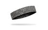 right side view of black and grey heathered JUNK baller headband