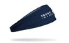 navy medical themed headband with white trust me I'm a doctor wordmark
