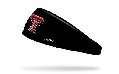 black headband with Texas Tech University T T logo in red
