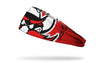red black and white headband with focus on Texas Tech University Raider Red mascot eyes