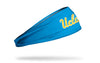 light blue headband with University of California, Los Angeles UCLA wordmark in gold and white