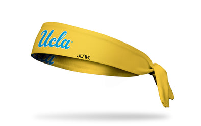 UCLA: Wordmark Gold Tie Headband