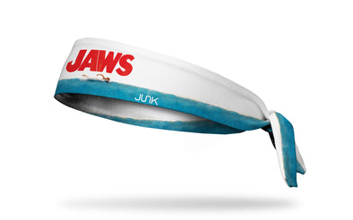 headband with classic Jaws poster printed design