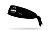 black headband with Jaws logo in white