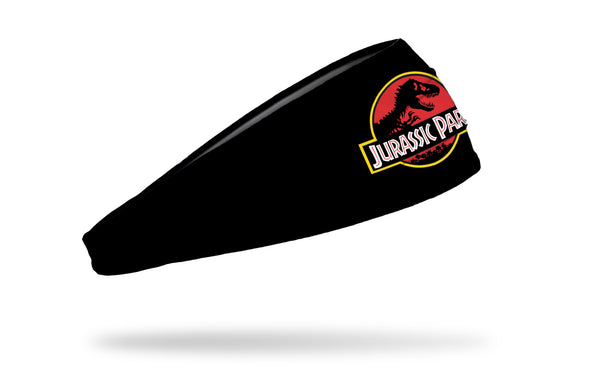 black headband with full color original Jurassic Park logo