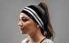 Varsity Stripe (Black) Headband