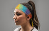 Washed Out Rainbow Headband