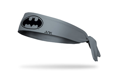 gray headband with DC Batman logo in black