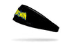DC Classic Batman Wordmark logo full color on black headband