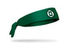 green headband with DC Green Lantern classic logo front center in black and white