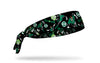 black headband with DC Green Lantern full color random pattern of classic hero poses and logos