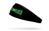 black headband with DC Green Lantern wordmark logo front center in full color